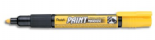 Yellow Pentel Permanent bullet tip paint marker MMP20